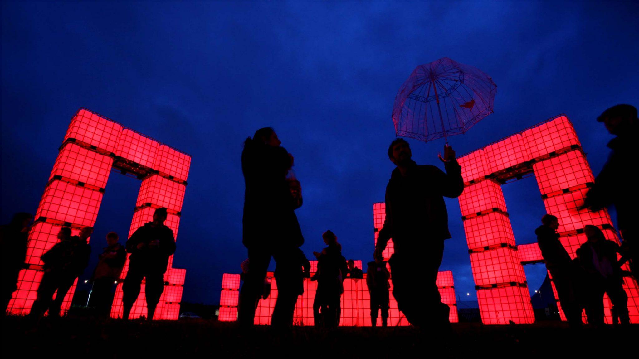 Cubes 'Cubehenge' @ Glastonbury Festival, Pilton, Somerset